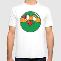 Who Watches The Pizza? Mens Fitted Tee White SMALL