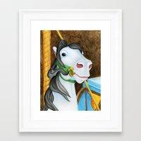 Carousel Horse - Dazzle Framed Art Print