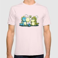 BUBBLE JOKE Mens Fitted Tee Light Pink SMALL