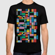 Map Outline SMALL Mens Fitted Tee Black