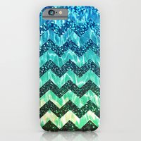 iPhone & iPod Case featuring Water Shine Chevron - for iphone by Simone Morana Cyla