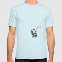 Coffee? Mens Fitted Tee Light Blue SMALL