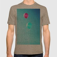 Happy Balloons Mens Fitted Tee Tri-Coffee SMALL
