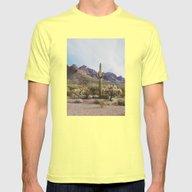 Arizona Cactus Mens Fitted Tee Lemon SMALL