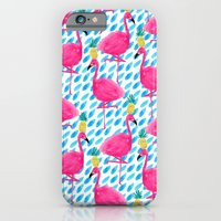 iPhone & iPod Case featuring Party Flamingos by Bouffants and Broken Hearts