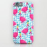 Party Flamingos iPhone 6 Slim Case