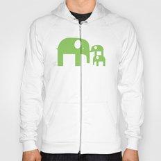 Green Elephants Hoody
