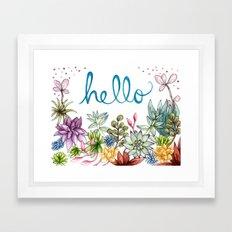 hello spring Framed Art Print