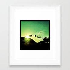 Green. Framed Art Print