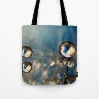 Royal Sea Blue Drops Tote Bag