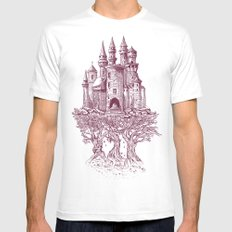 Castle in the Trees White Mens Fitted Tee SMALL