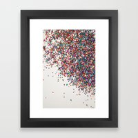 Fun II (NOT REAL GLITTER… Framed Art Print