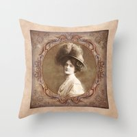 Vintage Portrait Throw Pillow