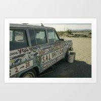 Salvation Mountain Truck  Art Print
