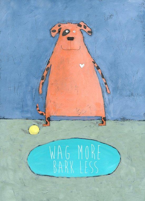 Wag More Bark Less Canvas Print