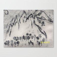 Drawing VS Painting Canvas Print