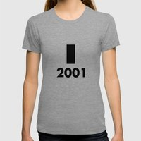 2001: A Minimalist Space… Womens Fitted Tee Tri-Grey SMALL