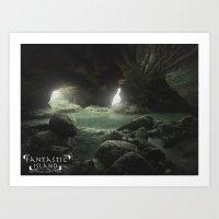 Fantastic Island Cave Art Print