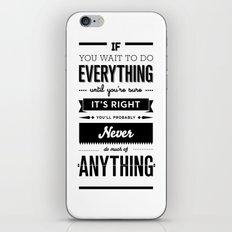 Follow Your Heart's Desire iPhone & iPod Skin