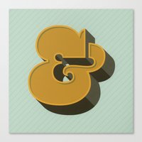 Heavy Ampersand Canvas Print
