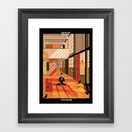 Framed Art Print featuring Hepburn Eames by Federico Babina