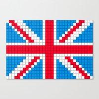Union Jack By Qixel Canvas Print