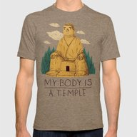 T-shirt featuring My Body Is A Temple by Louis Roskosch