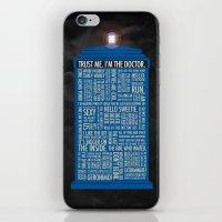 Doctor Who  iPhone & iPod Skin