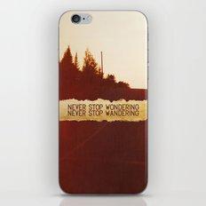 wonder + wander. iPhone & iPod Skin