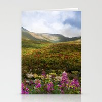 Fireweed Valley Alaska - Mountian Landscape Stationery Cards