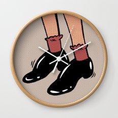 Shiny Shoes Wall Clock