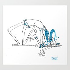 Sometimes You Gots To Cry. Art Print