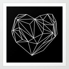 Heart Graphic (Black) Art Print