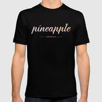 Pineapple Adventures Mens Fitted Tee Black SMALL