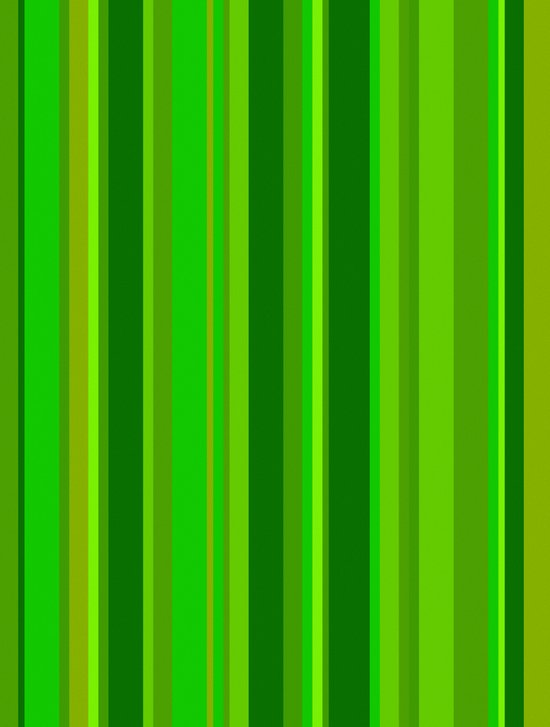 Green Stripes Art Print