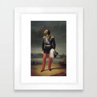 dog military Framed Art Print