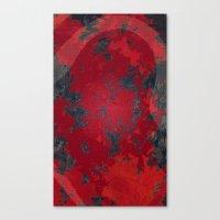 Blood Honeycomb Whisper Canvas Print
