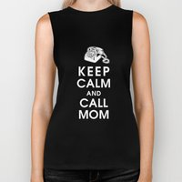 Keep Calm and Call Mom Biker Tank