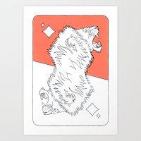 Lion Card Art Print
