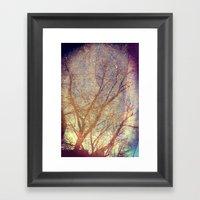 Galaxy + Nature Reflecti… Framed Art Print