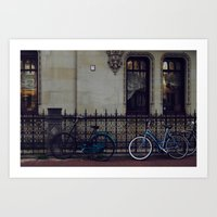 Bikes In Amsterdam Art Print
