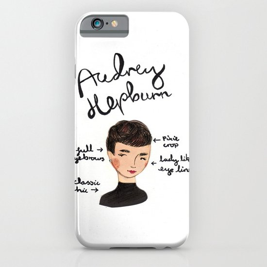 Style Icon Audrey Hepburn iPhone & iPod Case
