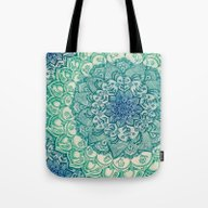 Tote Bag featuring Emerald Doodle by Micklyn