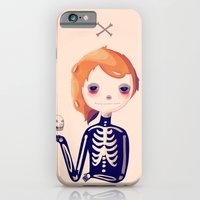 iPhone Cases featuring Bones by Nan Lawson