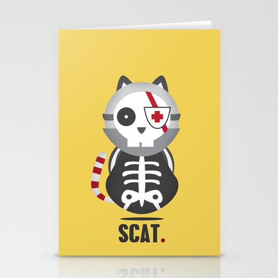 Scat Stationery Card