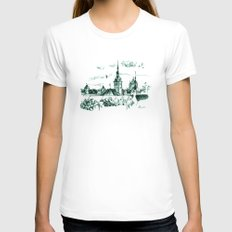 Medieval landscape. Womens Fitted Tee White SMALL