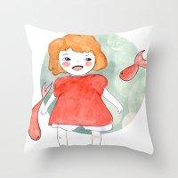 Ponyo Throw Pillow