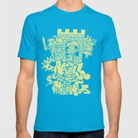kill the king. Mens Fitted Tee Teal SMALL
