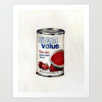 Great Value Tomato Soup Art Print