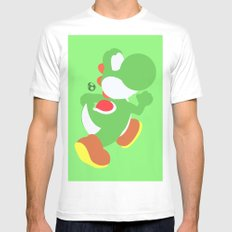 Yoshi(Smash) White Mens Fitted Tee SMALL